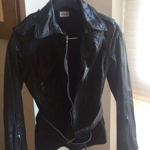 Philosophy black leather jacket